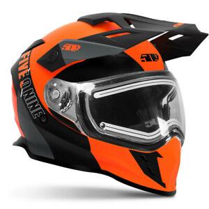 509 DELTA R3L IGNITE ORANGE / GRAY Snowmobile Heated/Electric HELMET - M or 2XL