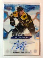 2017-18 UD ICE Rookie Premieres Autographs Anders Bjork Bruins /299