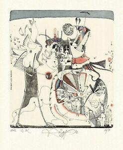 Ex Libris Bookplate Exlibris Etching by Yuriy Nozdrin - Russia