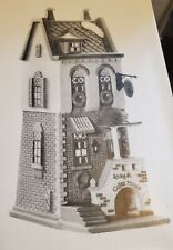 """Dept 56 """"Christmas in the City"""" - """"Spring Street Coffee House"""" & 2 figure"""
