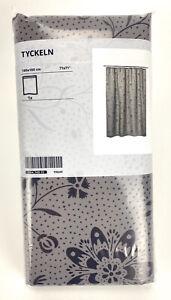 "Ikea TYCKELN Shower curtain gray/anthracite 71x71""  604.749.15"
