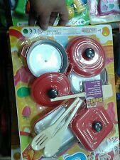 Set cucina pentole posate gioco di qualità giocattolo toy