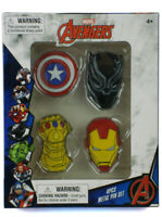 Avengers Metal Pin Set 4-Piece Infinity Gauntlet Iron Man Black Panther Marvel