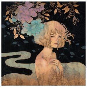 """Audrey Kawasaki """"It Was You"""". Printed by Static Medium"""