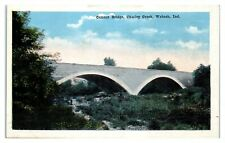 Cement Bridge, Charley Creek, Wabash, IN Postcard *285