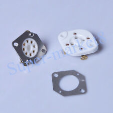 2pc 4pin To 8pin Stainless Steel Adapter Plate Tube Socket 300B to KT88 EL34 Amp