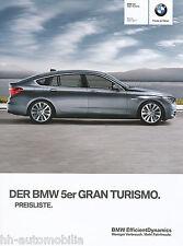 BMW 5er Gran Turismo GT Preisliste 3/11 (D) price list Autopreisliste Pkw Auto