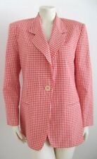 MICHAEL KORS RED & WHITE CHECKERED JACKET MADE IN ITALY SIZE 8 100% COTTON