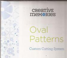 CREATIVE MEMORIES Oval Custom Cutting System Patterns Template Ovals Scrapbook