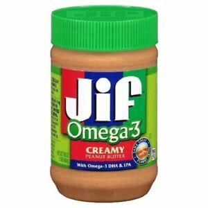 Jif Omega 3 Creamy Peanut Butter