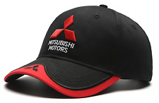 Car Baseball Cap Mitsubishi BLACK Logo Hat Stylish Sports Golf Gift Audi