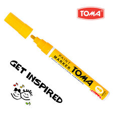 Amarillo permanente de aceite basado en Pintura Pluma Auto Moto Neumáticos Marcador De Metal Impermeable