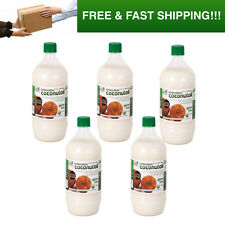 5 x 1 Litre Extra Virgin Coconut Oil, Certified USDA Organic Raw & Cold Pressed