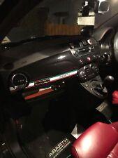 Abarth 500 595 Italian Tricolore Dash Dashboard Decal Stripe