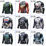 MMA Animal Rash Guard Bjj Long Sleeve Compression Top Mens Fightwear Rashguard