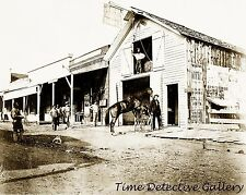 Jerome Livery Stable, Volcano, Amador County, California - 1870s - Photo Print