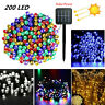 Solar Power 200 LED String Lights Garden Path Yard Decor Lamp Outdoor Waterproof