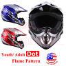 DOT Approve Motocross Offroad Dirt Bike Helmet Adult Open Face Helmets S M L XL