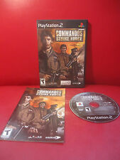 Commandos: Strike Force (Sony PlayStation 2, 2006) COMPLETE Black label working