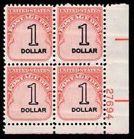 US Scott J100 Plate Block 2x2 Mint NH OG      $1.00     Lot P633