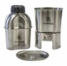 PATHFINDER Stainless Canteen Cooking Set Kit outdoor camping w/cover