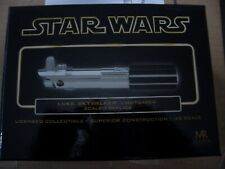 STAR WARS RARE MASTER REPLICAS LUKE SKYWALKERS LIGHTSABER BOX ONLY WITH COA.