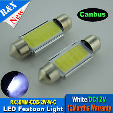 4xLED COB Car Dome Interior License Registration Number Plate Light Bulb Festoon