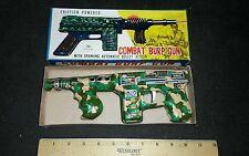 T.N Junior tin burp gun spark action machine gun made in japan in box Mint lot