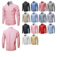 FashionOutfit Men's Cotton Based Casual Formal Long Sleeves Button Down Shirt
