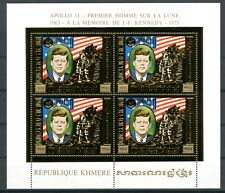 Cambodge Cambodia KENNEDY Space Espace 1974 Gold Foil Or MICHEL 386 A 480 euros