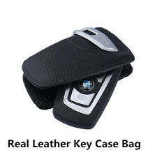 Car SUV Black Genuine Leather Key Case Fob Sport Line Bag For BMW 1 3 5 7 Series