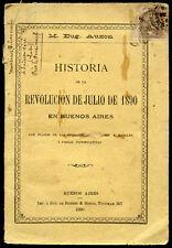 Argentine-E. Auzon : REVOLUCION DE JULIO DE 1890 en BUENOS AIRES. Argentina