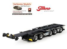 Tekno 65880 D-Tec Combitrailer 5 Axle Container Trailer Plain Black 1:50 Scale