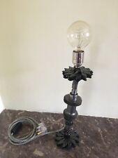 hand made gear and rocker lamp art industrial steam punk