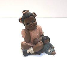 signed Martha Holcombe God Is Love Rachel Figurine 1986 girl with bear