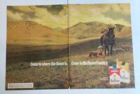 1974 Come To Marlboro Country Cigarette Print Ad Cowboy Richard Prince 2 Page