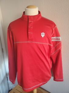 Mens NCAA Ahead Extreme NCAA IU Indiana Hoosiers Pullover Size 2XL Red