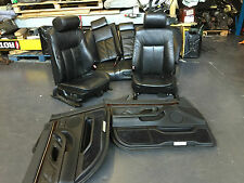 BMW E38 7 Series SE Black Electric Leather Seat & Door Panel Full Interior Kit