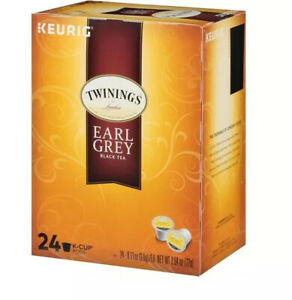 Twining's Earl Grey Black Tea 24 Keurig K-Cup Pods BB 2022-2023 Fast Shipping!