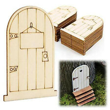 Fairy Door Wooden Shaped Mushroom House Plain Blank Craft Home Decoration DP