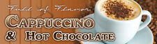 "18""x60"" - Cappuccino and Hot Chocolate - Concession Banner"