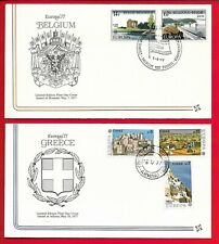 1977 Ww Europa Fdc lot of 8 different