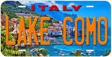 Lake Como Italy Aluminum Novelty Auto Car Tag License Plate