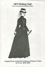 1875 Riding Suit for 15-inch and Fashion Dolls The Amanda Series
