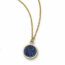 Collar de joyería azul de oro amarillo