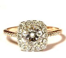 14k rose gold halo cubic zirconia CZ womens ring 2.5g estate vintage ladies