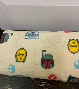 Disney Star Wars Darth Vader Storm Trooper Head Helmet Flannel Flat Twin Sheet