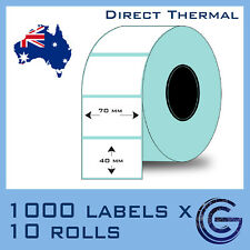 70 x 40 mm 10,000pcs for Zebra, TSC, Datamax Barcode Label Roll Sticker Lables