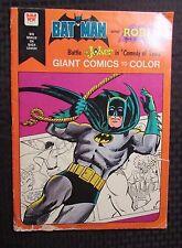1975 BATMAN & ROBIN Giant Comics To Color GD Whitman vs Joker Comedy of Tears