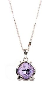 Crystals From Swarovski® Cancer Crab Pendant Necklace Rhodium Authentic 1224o
